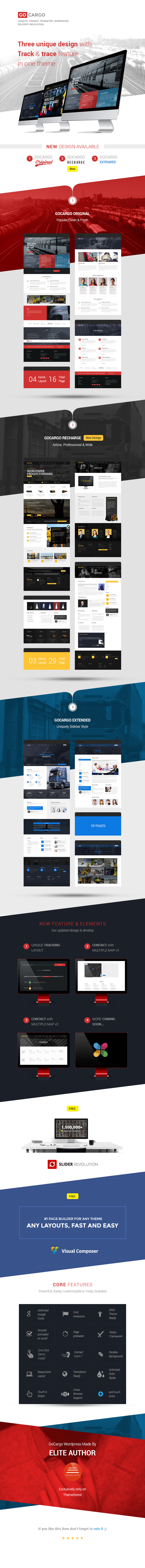 gocargo features wp - GoCargo - Freight, Logistics & Transportation WordPress Theme